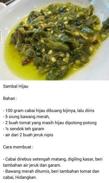 Resep Sambal Ijo Padang : resep, sambal, padang, Sambel, Padang, Resep, Masakan,, Makanan,, Makanan, Pedas