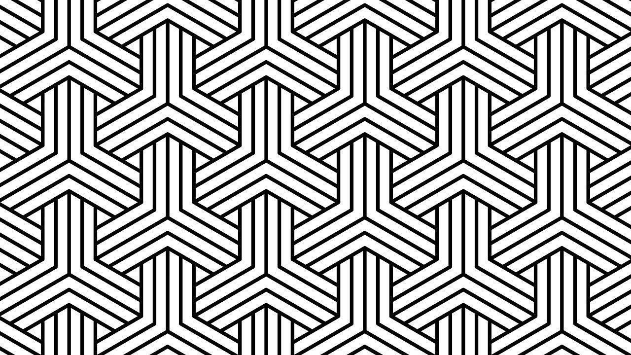 Design Patterns Hexagon Polygon Black And White Corel Draw