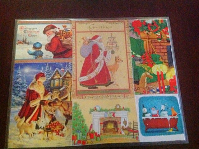 Captivating Christmas Card Placemat DIY Saved Cards, Poster Boards Cut To Size, Contact  Paper On Both Sides.