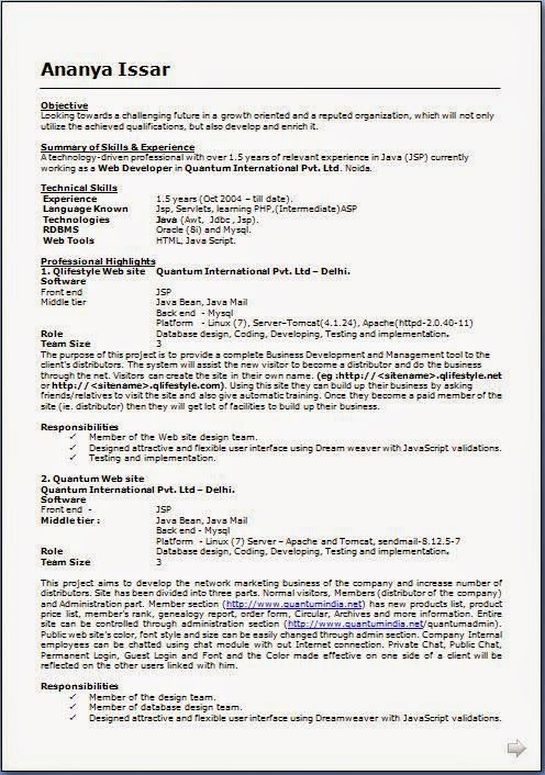 free online resume templates Sample Template Example of