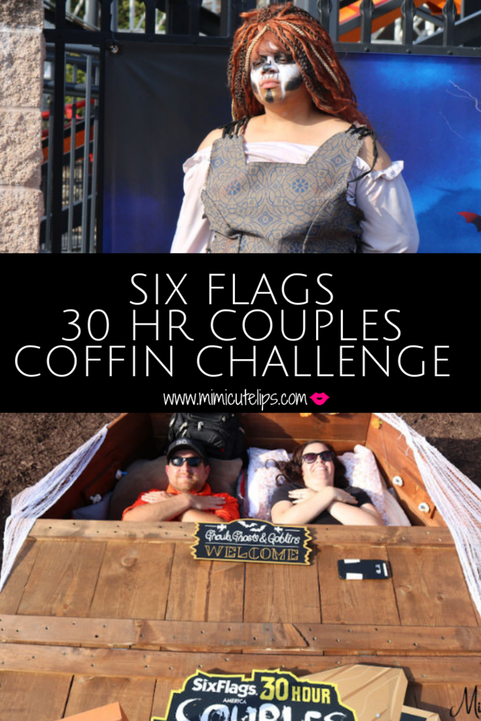 Six Flags Fright Fest 30 Hr Coffin Challenge Mimicutelips Six Flags Challenges Hong Kong Travel