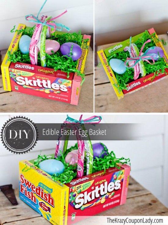 Edible gift basket easter treats pinterest easter and easter easter baskets edible gift basket negle Images
