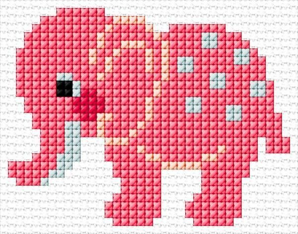 Photo of Elephant | 54 | 3705  He  #StitchingDibujo