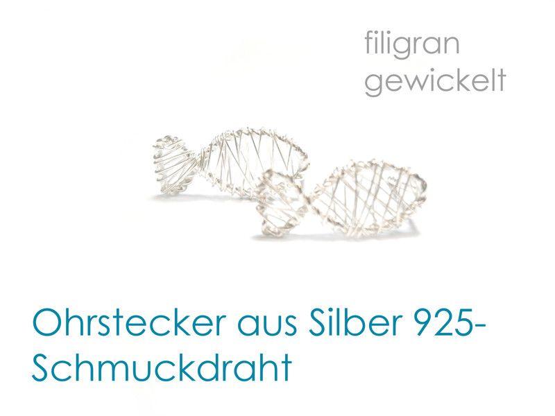Ohrstecker Fisch Silber 925 von DeineSchmuckFreundin - Schmuck und Accessoires auf DaWanda.com