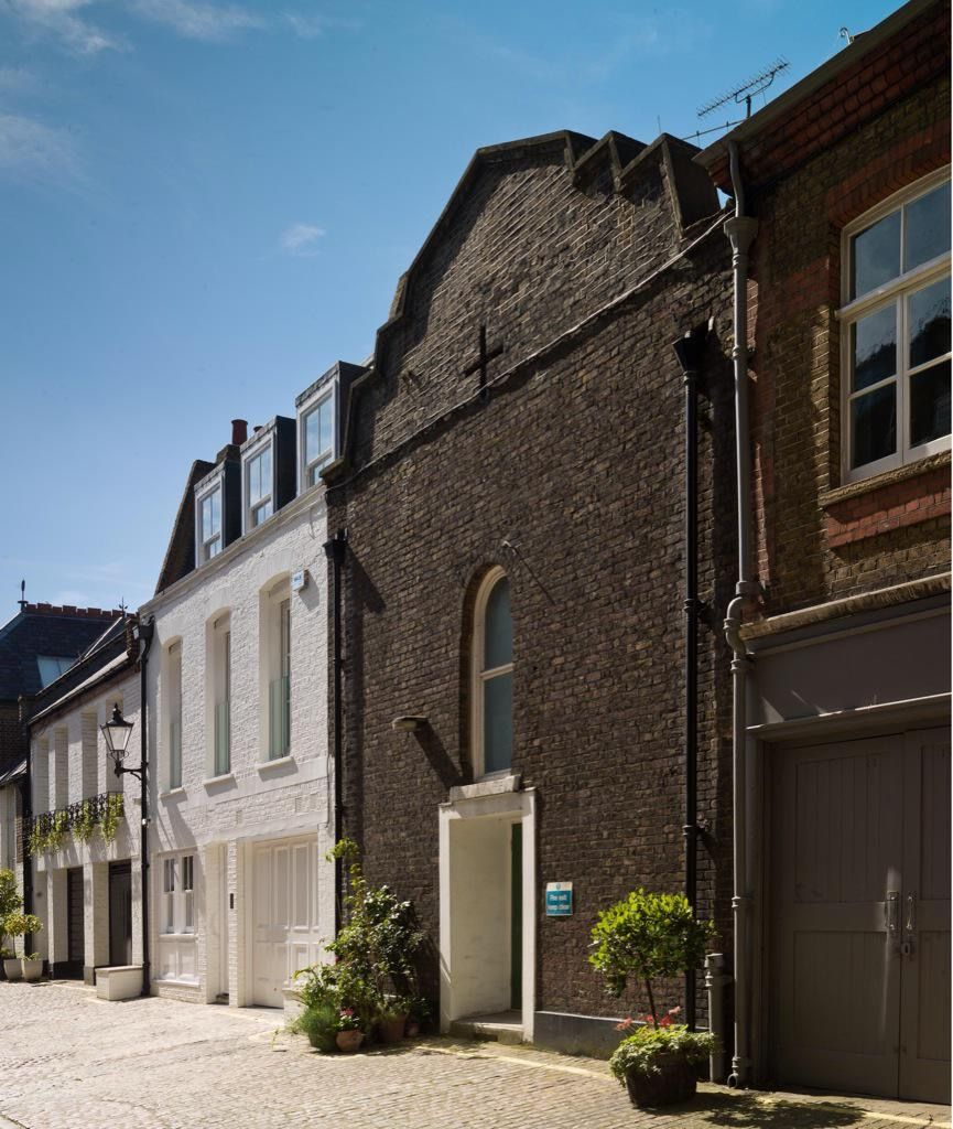 Russian Orthodox Chapel, built for Russian Embassy in Welbeck Street. Elevation to Marylebone Mews. Photograph 2015 (c)CRedgrave English Heritage