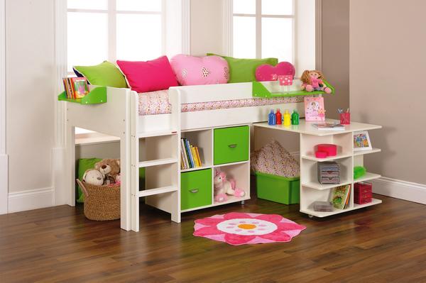 astounding ikea kids bedroom furniture | IKEA Childrens Beds With Rattan Basket | Ikea toddler bed ...