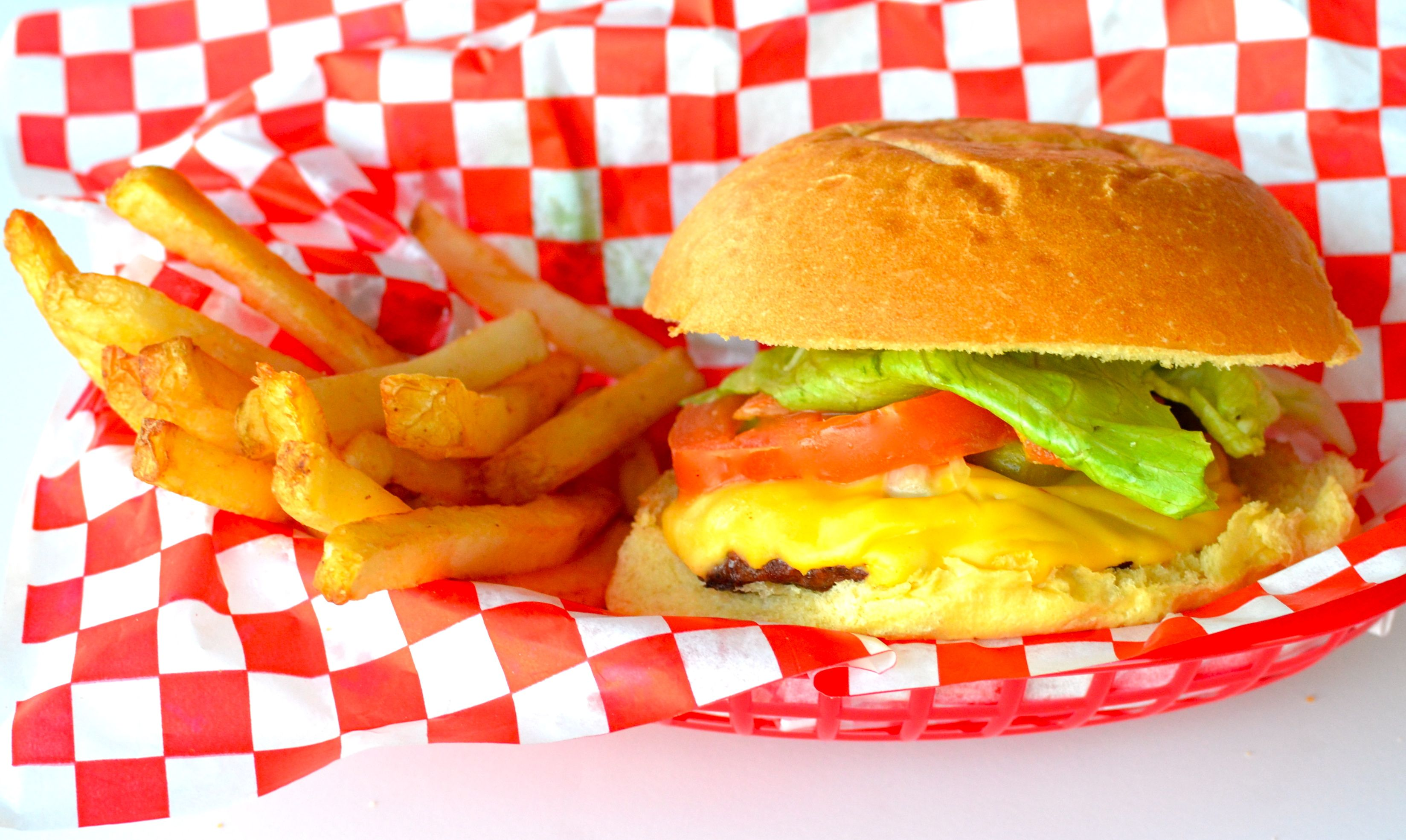 Ore-Ida French Fries and a Cheeseburger