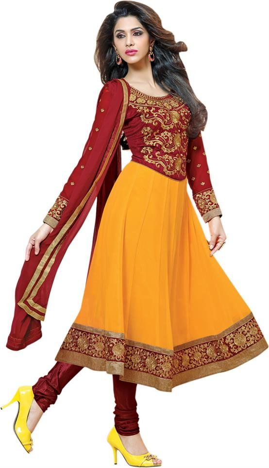 f847c7970f Vaamsi Georgette Self Design Dress/Top Material Fabric | Indian ...