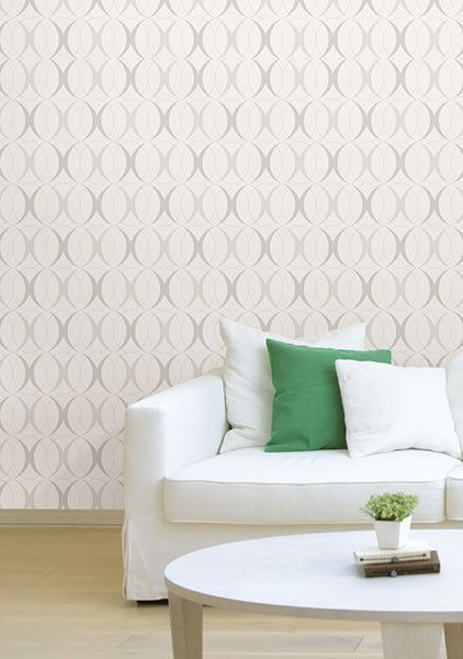 Circulate Light Silver Peel And Stick Wallpaper Peel And Stick Wallpaper Silver Wallpaper Nuwallpaper