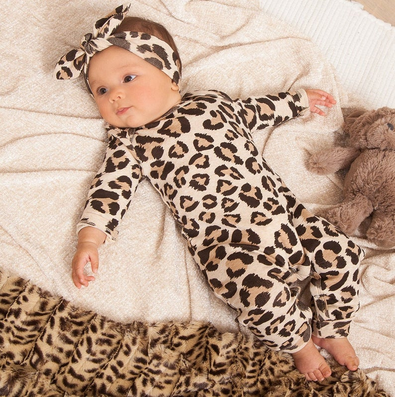 Baby Girl Leopard Romper, Coming Home Outfit Baby Girl, Newborn Cheetah, Leopard Print, Baby Girl Romper, Girls Gifts, Toddler, TesaBabe cr