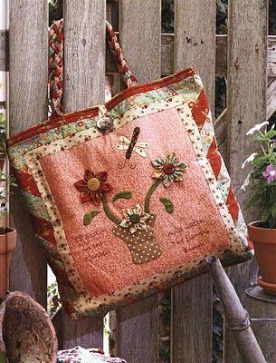 bolsa de tecido em patchwork com moldes e PAP (DIY)  a62a554641a