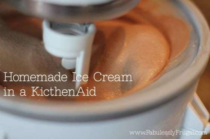 Chocolate Kitchenaid Ice Cream Recipe - Fabulessly Frugal #icecreampopsicle