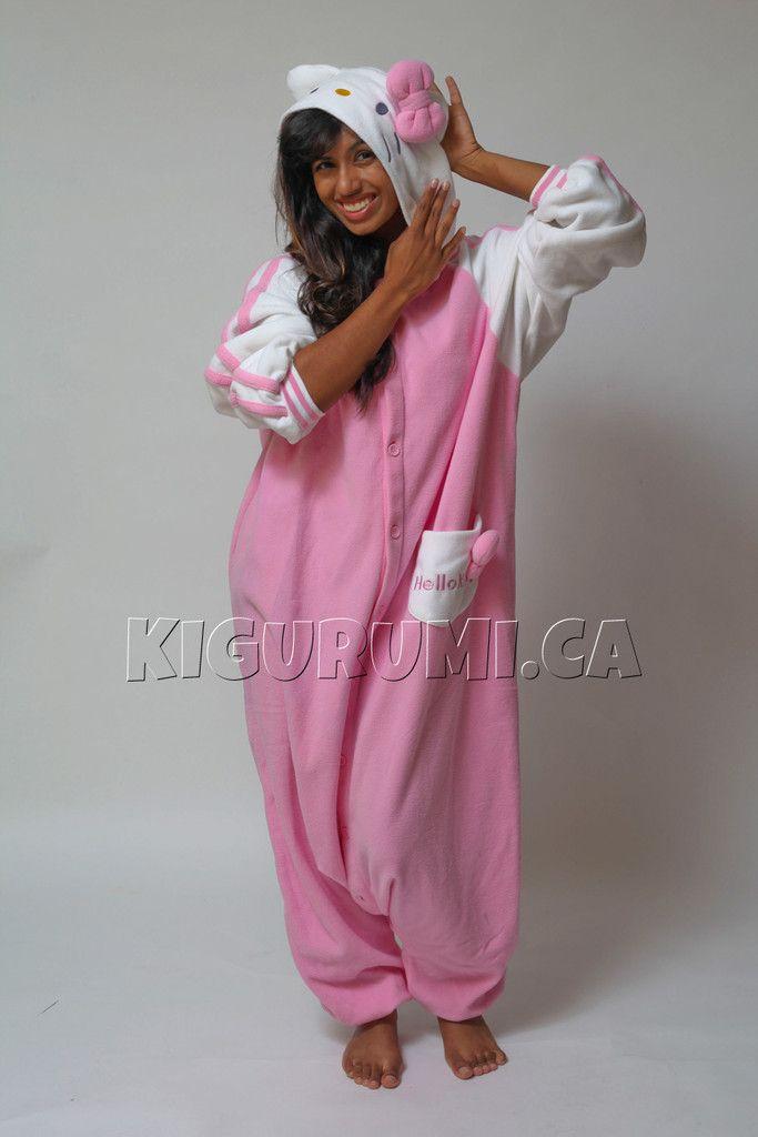 Hello Kitty Pink Costume Adult Onesie Pajamas from www.kigurumi.ca ... 847bb93895fe8