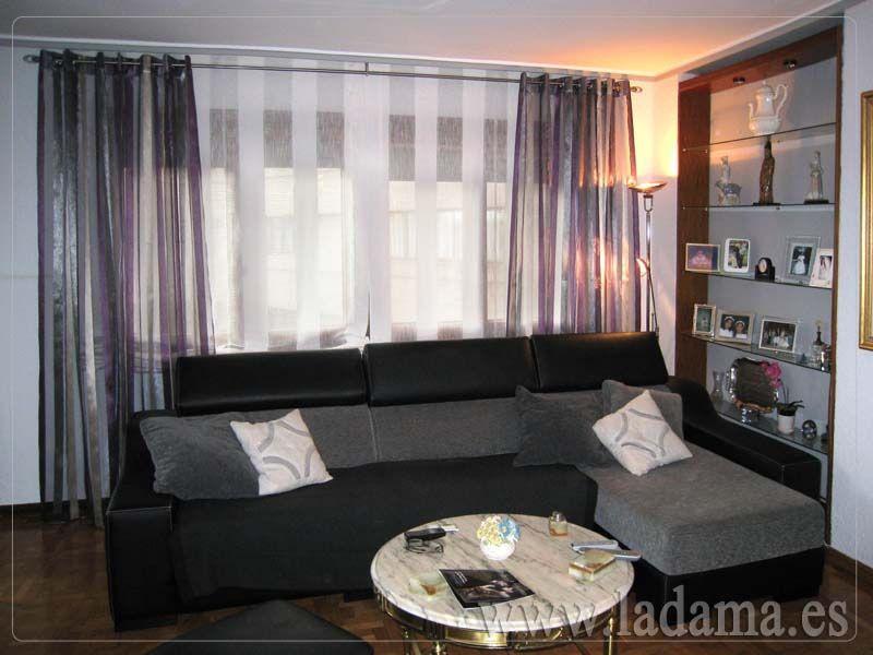 Salones modernos buscar con google salones pinterest - Cortinas para salones pequenos ...