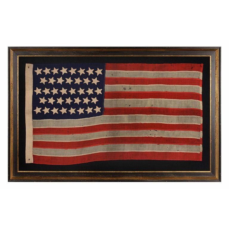 38 Stars In Dancing Rows On A Flag Us 1876 1889 Flag American Flag Old Glory
