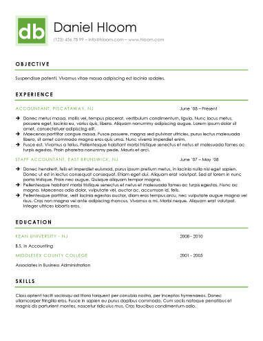 Chronological Resume by Hloom Download Pinterest - resume headings format