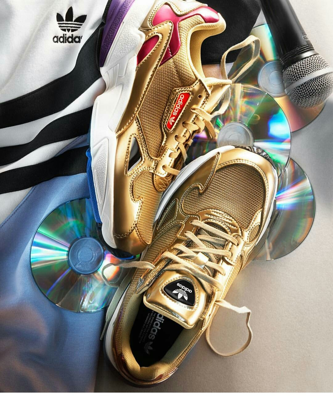 Adidas Falcon | Gold adidas, Shoes, Sneakers fashion