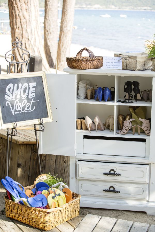 Letu0027s Get Creative With Beach Wedding Decoration Ideas! Create Your Very  Own Space Shoe Parking