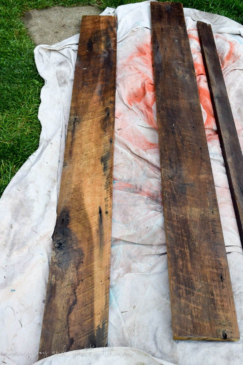 How To Clean And Refinish Barndwood In 3 Easy Steps Get The Farmhouse Look With Your Own Barnwood Or Reclaimed Wood Diy Project