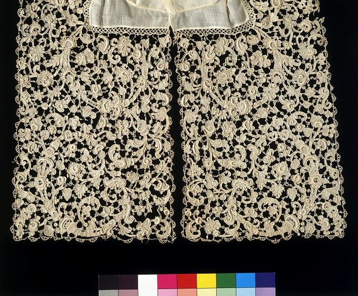 Collar, Venice Italy, 1660-1680  linen with needle lace