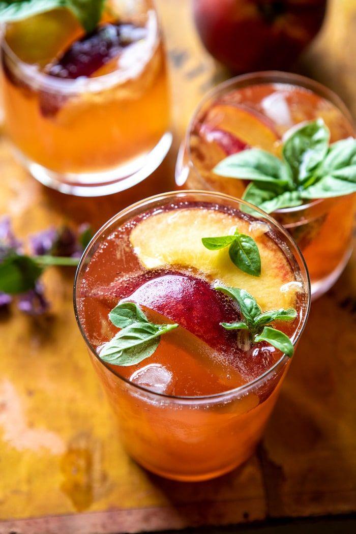 Balsamic Peach Spritz #cocktaildrinks