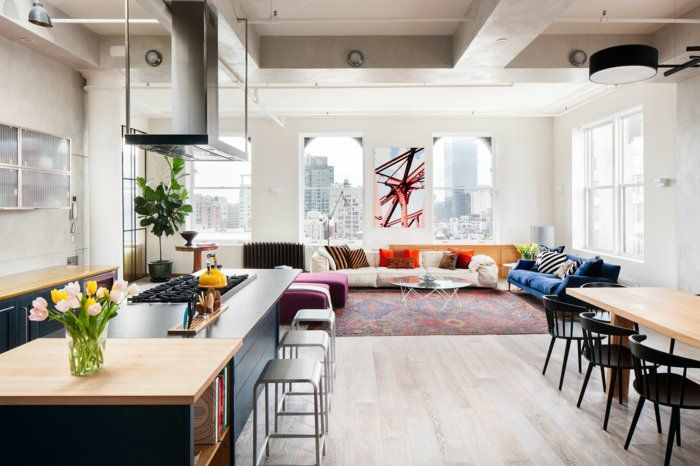 Innendesign ideen aus einem loft in new york home for Innendesign wohnzimmer