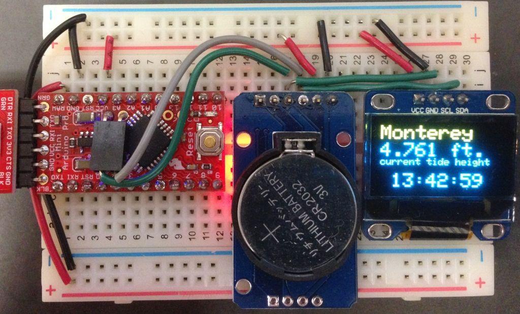 Blog Archive Building A Simple Tide Clock Tide Clock Arduino Gps Arduino Projects