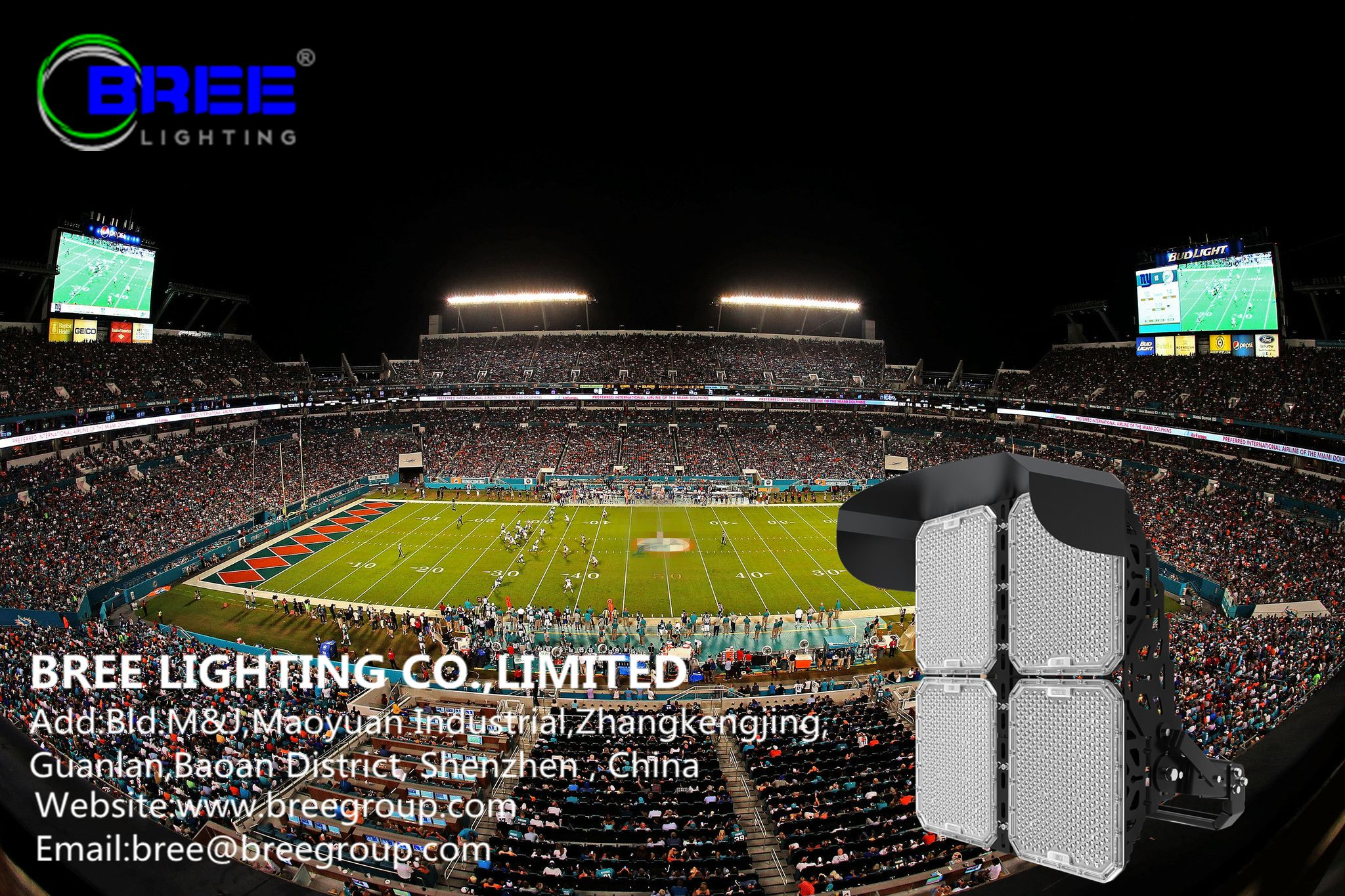 Led Floodlight 1000w Led Sports Light Sports Field Lighting Website Www Breegroup Com Email Bree Breegroup Com