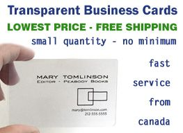 Transparent plastic business cards small low quantity quantities transparent plastic business cards small low quantity quantities lowest price no minimum canada us usa free reheart Image collections