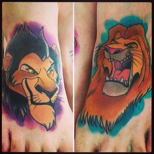 disney tattoo lion king scar mufasa simba disney tattoos pinterest tatouage. Black Bedroom Furniture Sets. Home Design Ideas
