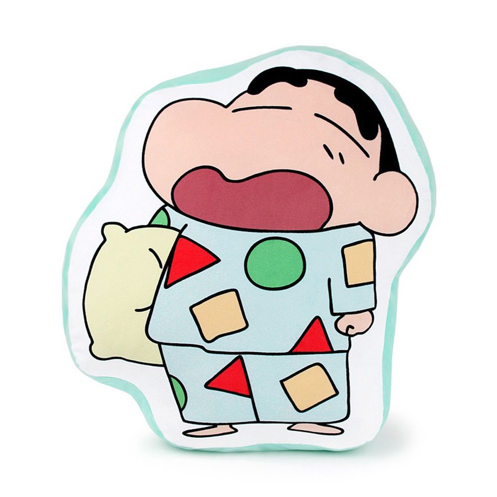 NEW Crayon Shinchan Pajama Type 4 20in Line Print Cushion