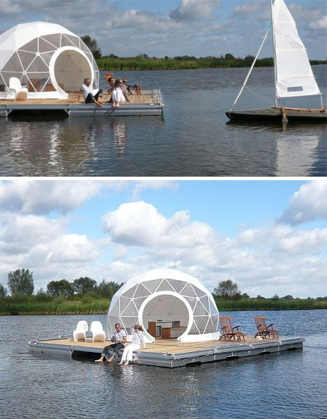 on its maiden voyage this first of its kind floating dome dwelling drifted lazily between. Black Bedroom Furniture Sets. Home Design Ideas