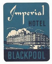 HOTEL IMPERIAL luggage DECO label (BLACKPOOL)