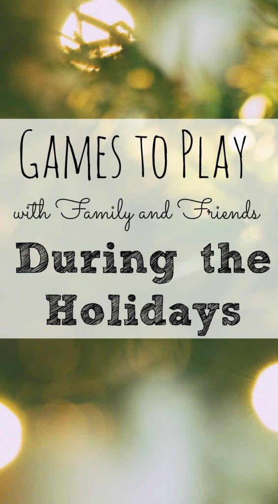 games to play after dinner with family friends