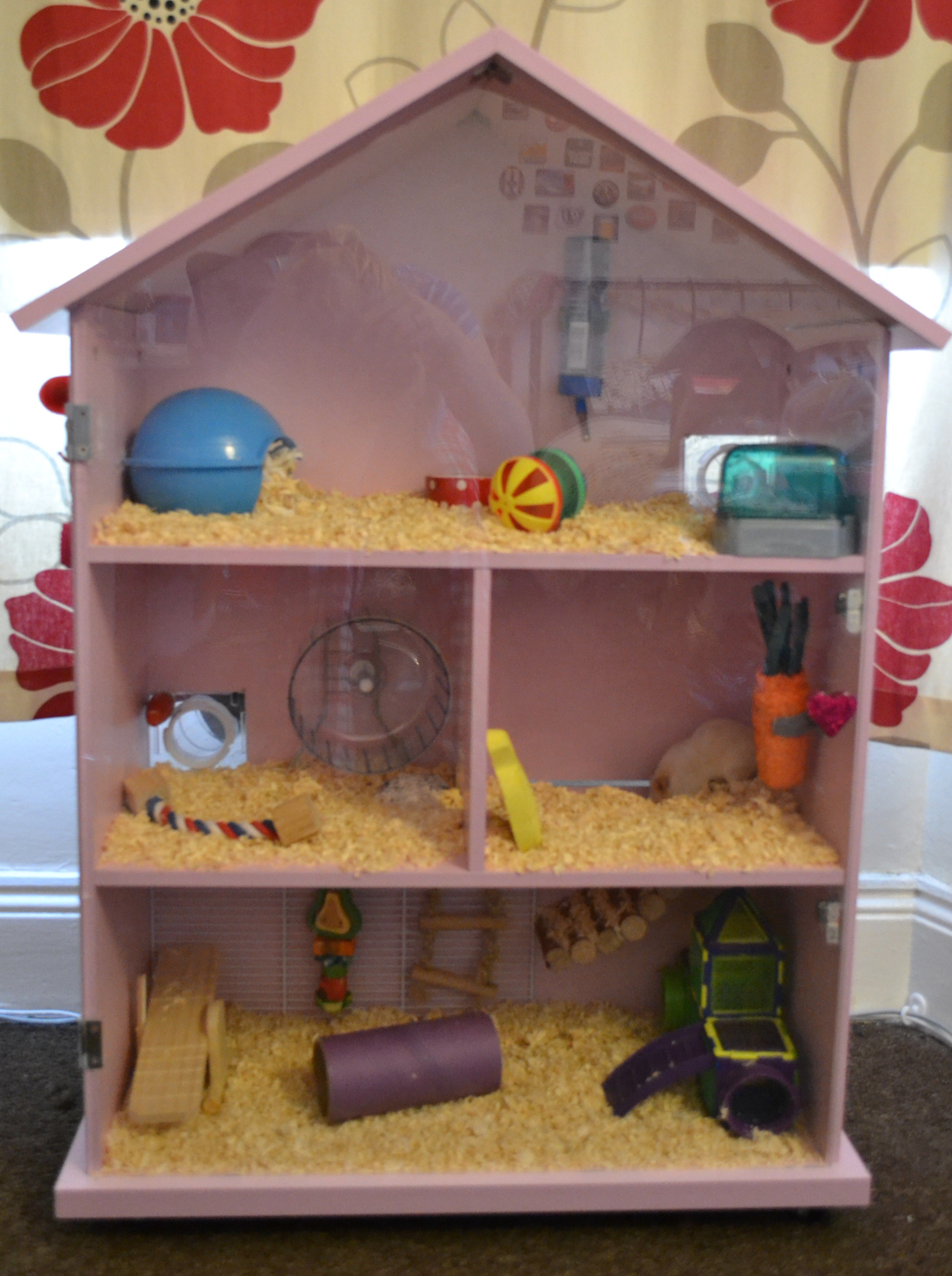 Just Finished This Hamster House For My Hamster Phoebe Hamster Homemade Diy Hamster Cages Hamster Toys Hamster House