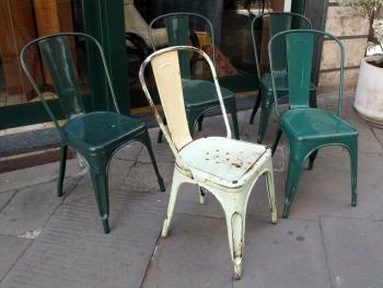 Sedie decorate ~ Tolix sedie in ferro mod a in patina anni ricerca