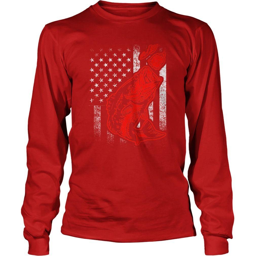 Bass fishing lure and american flag tshirt gift ideas popular