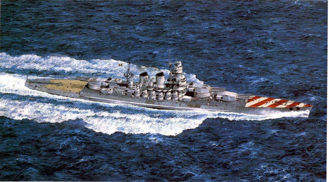 Wwii italy navy battleship roma 1943 plastic model images list - Vittorio Veneto Italian Battleship Class Littorio Warships Of Wwii Pinterest Battleship And Wwi