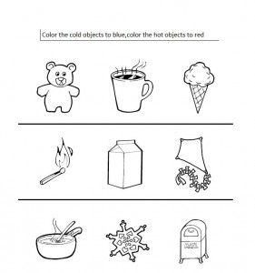 Hot Cold Coloring Pages