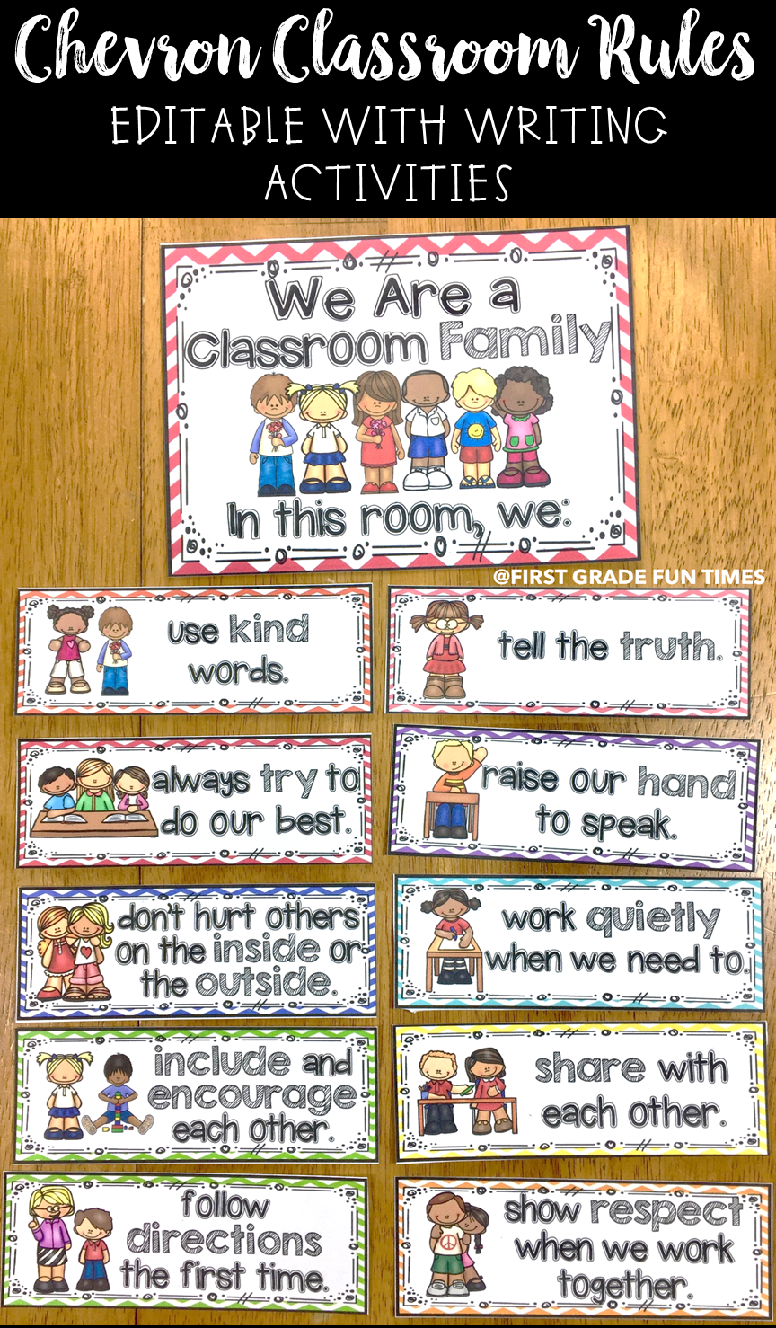 Classroom Writing Ideas ~ Classroom decor rules with writing activities