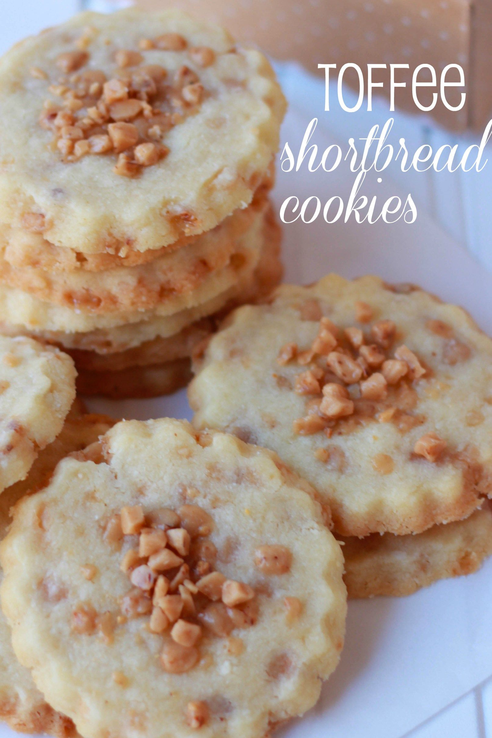 Photo of Toffee Shortbread Cookies – Celebrating Sweets