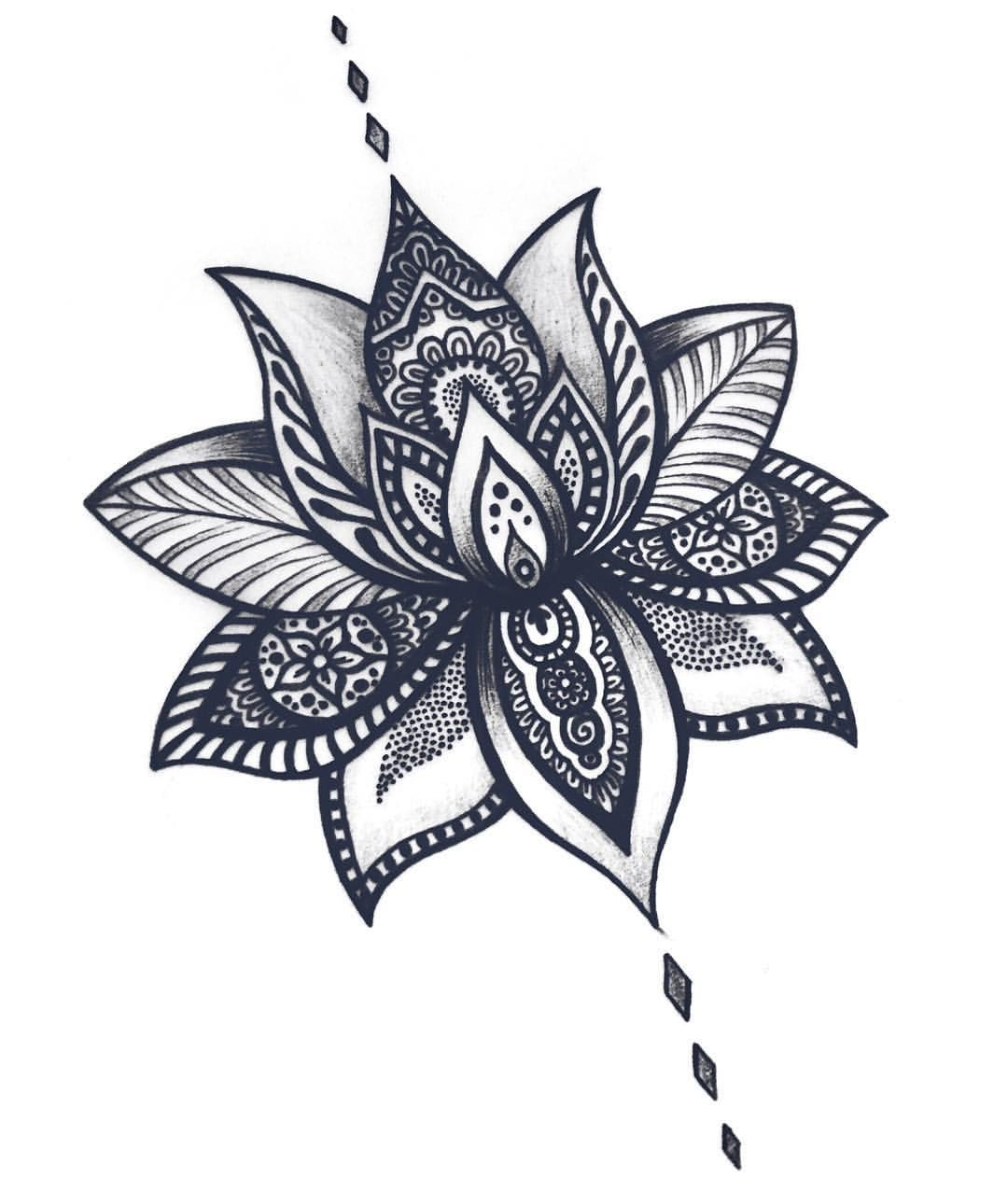 sets lotus flower temporary tattoos | lotus and tattoo
