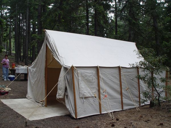 Make your own wall tent! This is a 800 tent but actually pretty easy : canvas tent craigslist - memphite.com