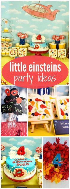 At this Little Einstein party the guests became little Picassos!  See more party ideas at http://CatchMyParty.com!
