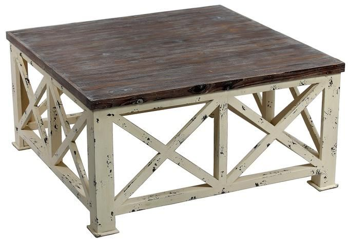 X Pattern Distressed Wood Square Coffee Table Coffee Table Coffee Table Square How To Distress Wood