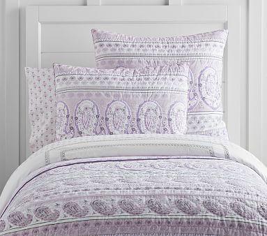 Keira Sateen Paisley Quilt, Full/queen, Lavender | *Bedding > Girl ... : lavender quilts - Adamdwight.com