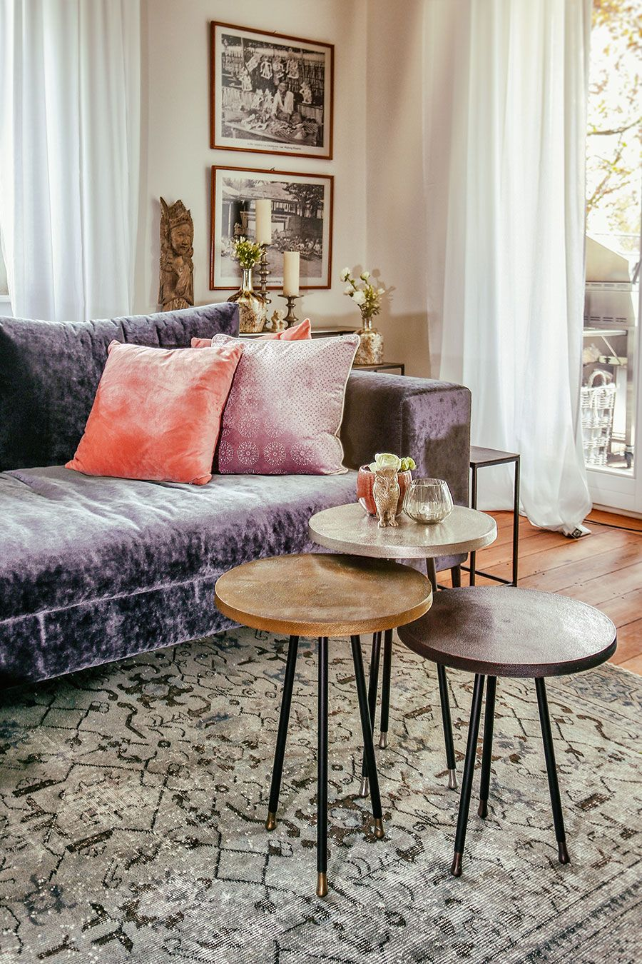 Couchtisch messing silber kupfer moods in 2019 pinterest tisch kupfer couchtisch und - Kupfer deko wohnzimmer ...