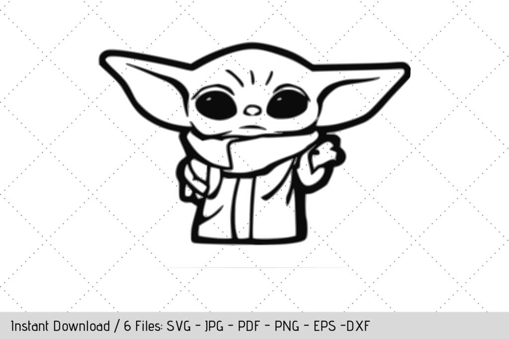 Free Baby Yoda Standing Svg In 2020 Yoda Drawing Disney Silhouette Yoda Decals