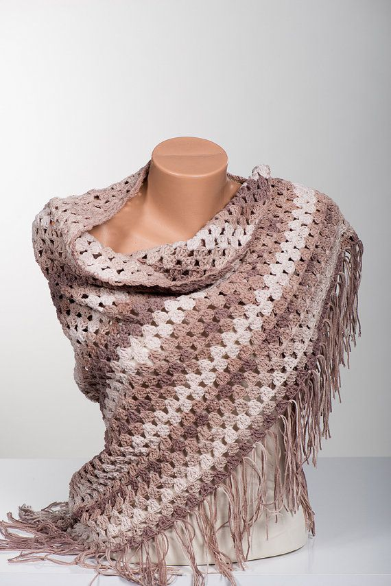 Cotton Crochet Shawl. Summer shawl.  Summer by scarfstore2012