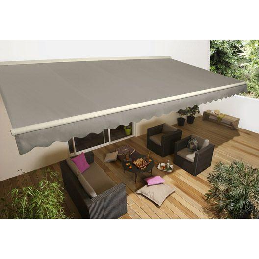 Store Banne Motorise Baleare Semi Coffre Aluminium Larg 4m X Avancee 3m Mobilier Terrasse Deco Exterieure Idee Terrasse